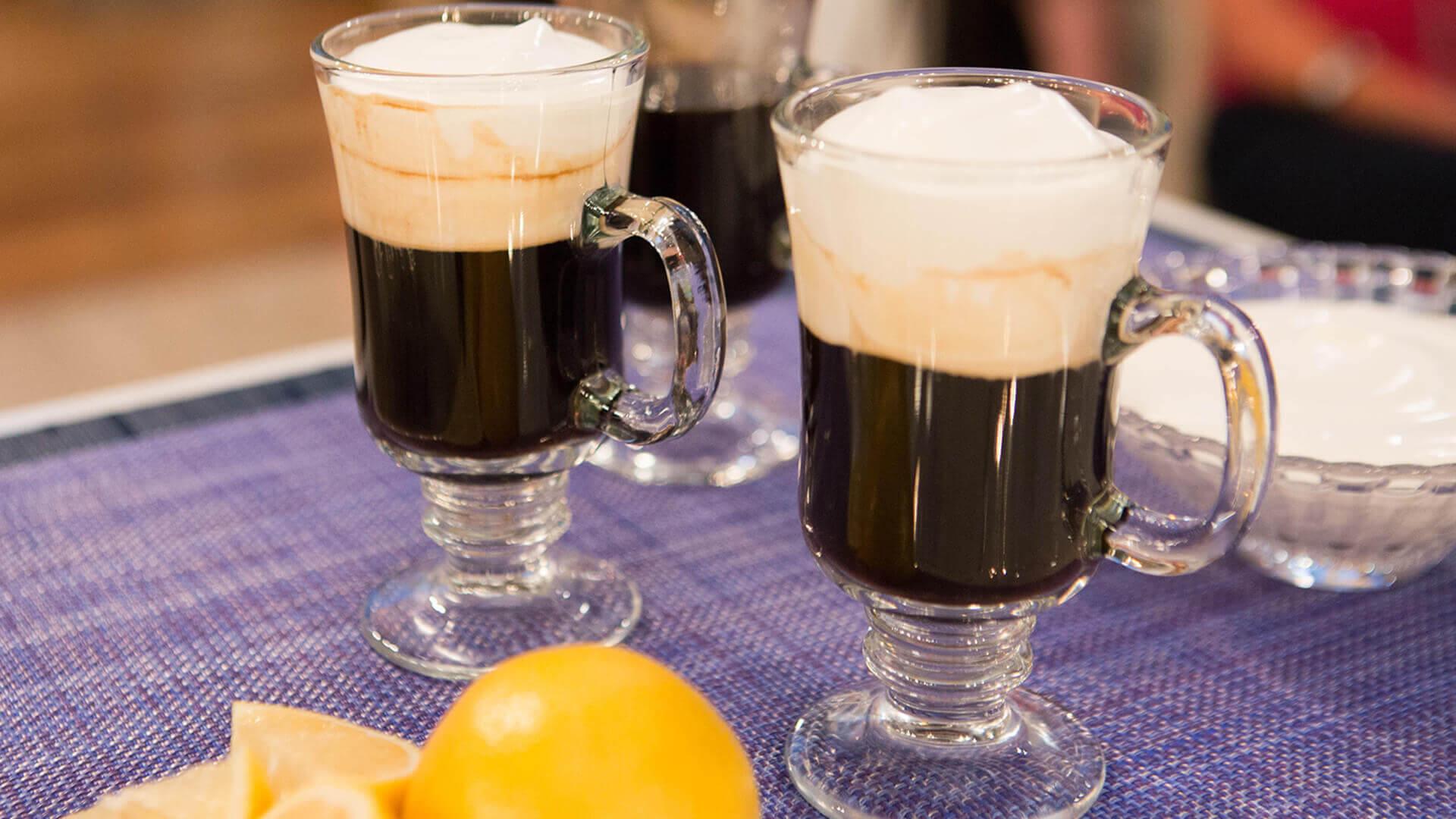 comida tipica de irlanda - café irlandés