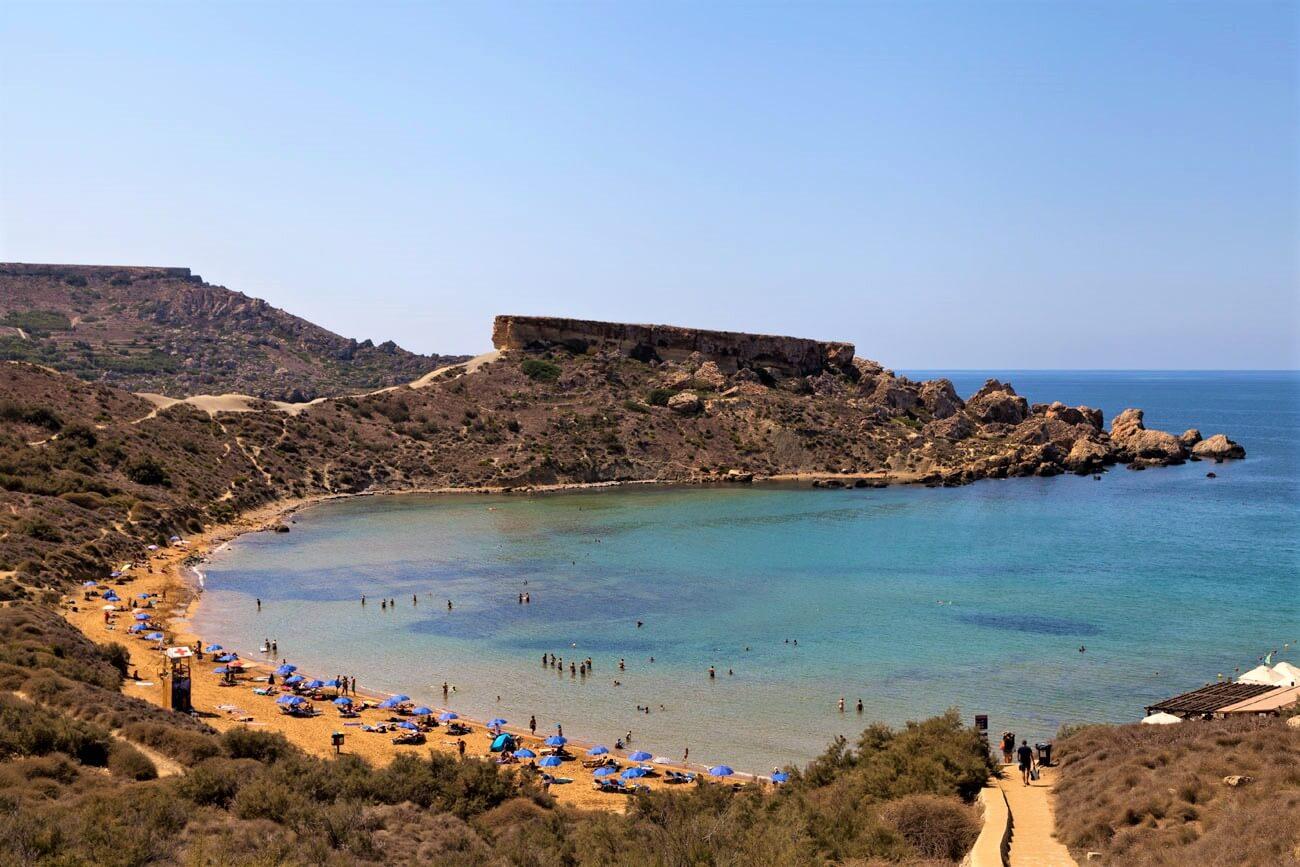 playas de malta - Għajn Tuffieħa